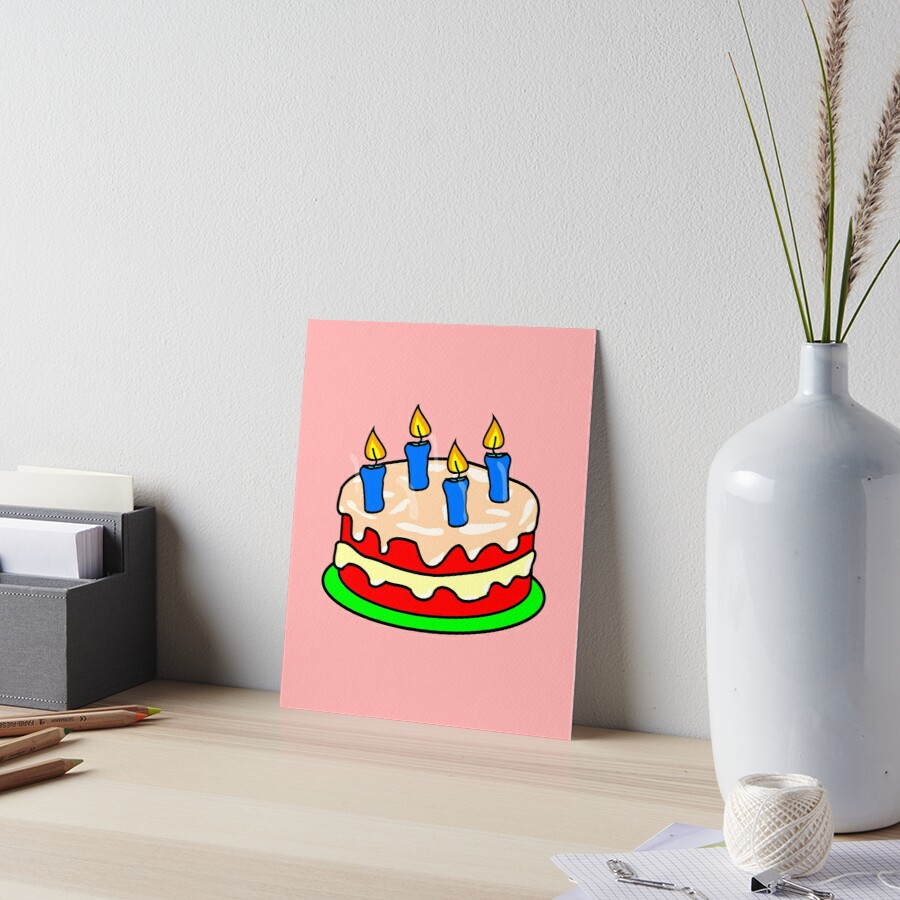 Strawberry Birthday Cake Emoji By PrintPress