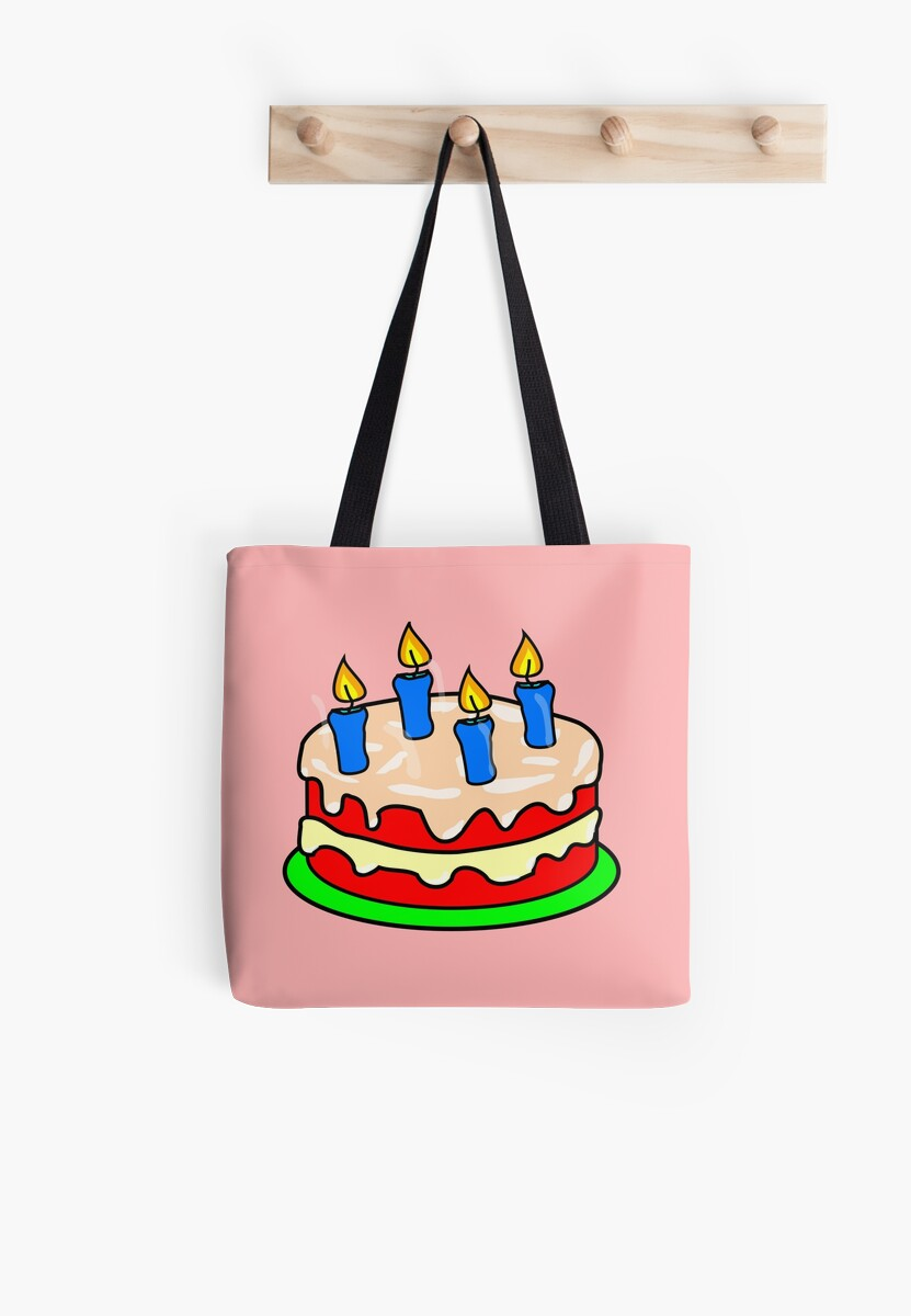 Strawberry Birthday Cake Emoji Tote Bags By Printpress Redbubble