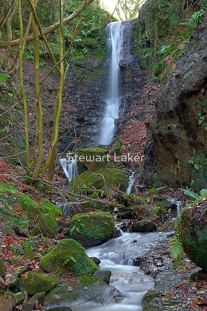 Biggerdales Hole Waterfall by Stewart Laker