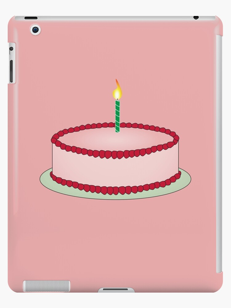 Strawberry Birthday Cake Emoji Ipad Cases Skins By Printpress