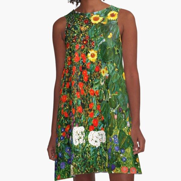 Klimt - Farm Garden with Sunflowers A-Line Dress