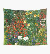 Klimt - Farm Garden with Sunflowers Wall Tapestry