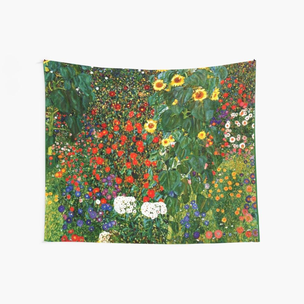 Klimt - Farm Garden with Sunflowers Wall Tapestry