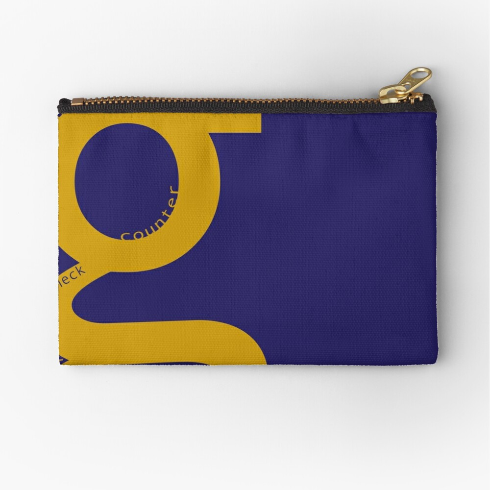 the typography of G Zipper Pouch