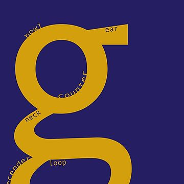 the typography of G by vanderdys