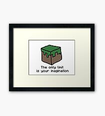 Minecraft Imagination Quote Framed Print