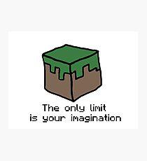 Minecraft Imagination Quote Photographic Print