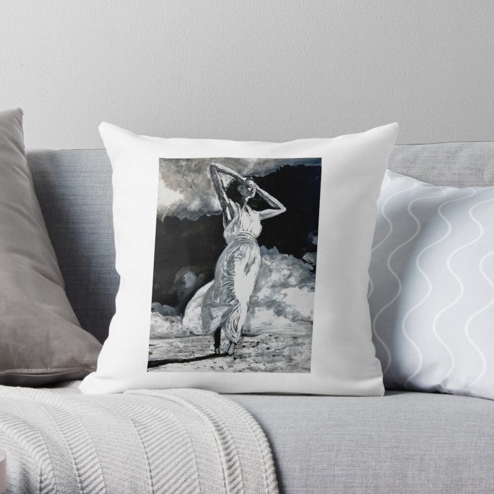 The White Deer Throw Pillow
