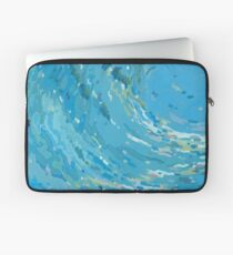 Waves Curving to the Left Laptop Sleeve