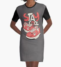 Stay Cool And Run Graphic T-Shirt Dress