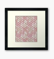 Abstract polygonal pattern of pastel colors. Framed Print