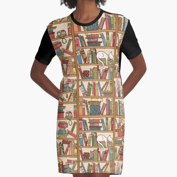 Bookshelf No.1 Graphic T-Shirt Dress