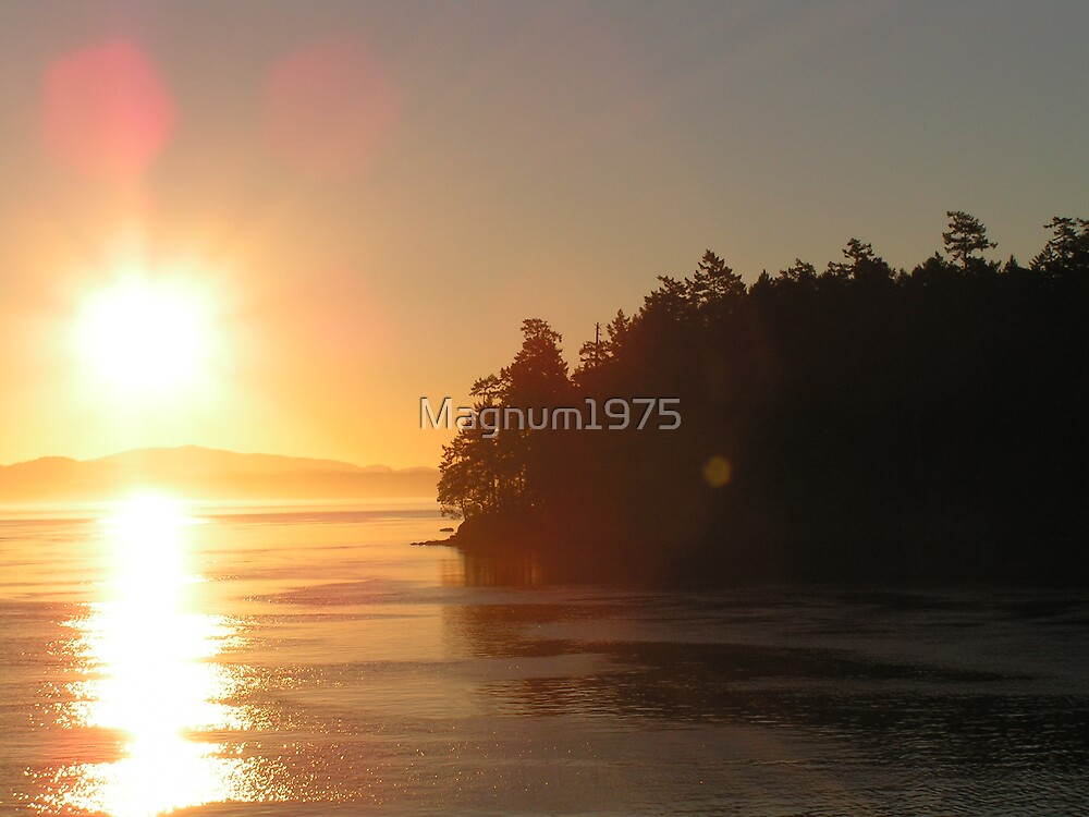 Sunrise off of Piers Island by Magnum1975