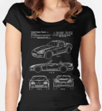 Honda S2000 Patent White Women's Fitted Scoop T-Shirt