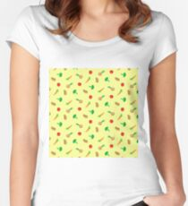 Vegetables colorful Women's Fitted Scoop T-Shirt