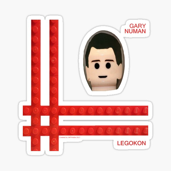 Gary Numan Telekon Squared Sticker