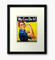 Rosie the Riveter - US World War II Propaganda Poster Framed Print