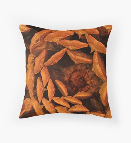 Bottom of a Pine Cone Throw Pillow