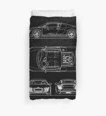 The R8 V10 Blueprint Duvet Cover