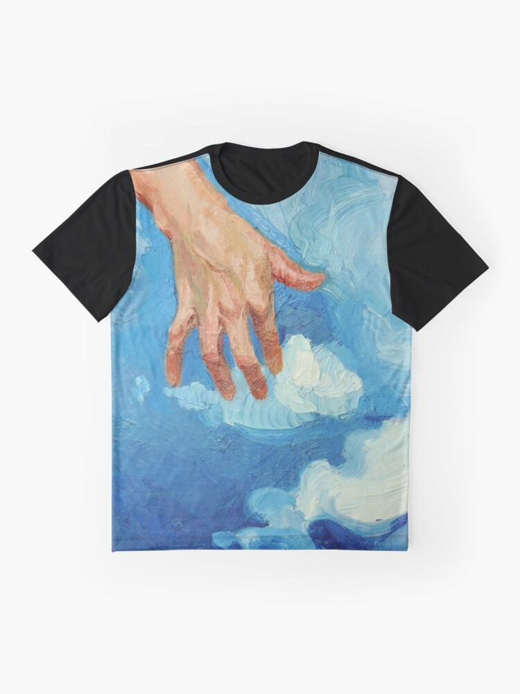 Alternate view of Touching Clouds Graphic T-Shirt