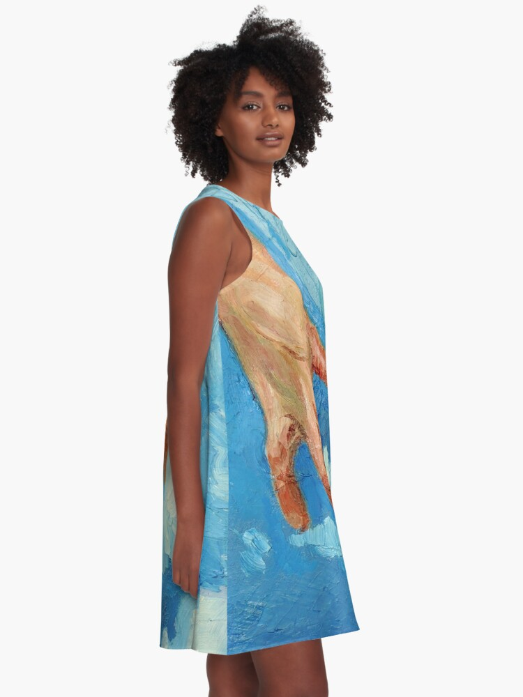 Alternate view of Touching Clouds A-Line Dress