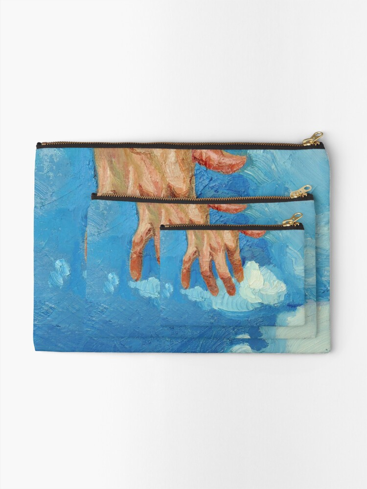 Alternate view of Touching Clouds Zipper Pouch