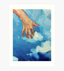 Touching Clouds Art Print