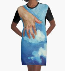 Touching Clouds Graphic T-Shirt Dress