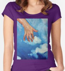 Touching Clouds Women's Fitted Scoop T-Shirt