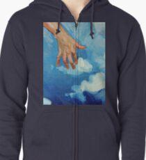 Touching Clouds Zipped Hoodie