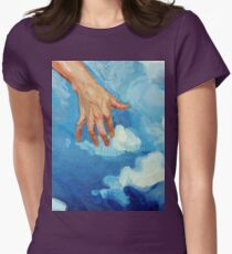 Touching Clouds Women's Fitted T-Shirt