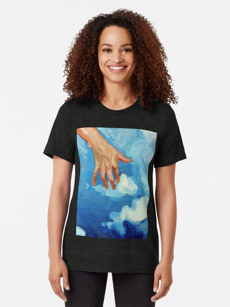Alternate view of Touching Clouds Tri-blend T-Shirt