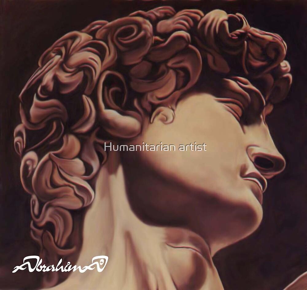 Michelangelo's david,  by Humanitarian artist