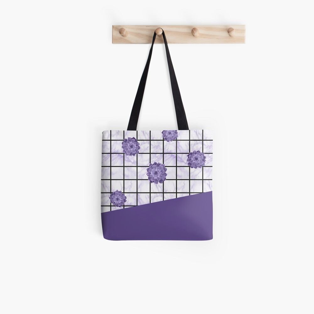 Succulents geometric composition - Ultra Violet Tote Bag