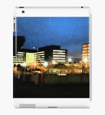 Nightly view of Helsinki iPad Case/Skin