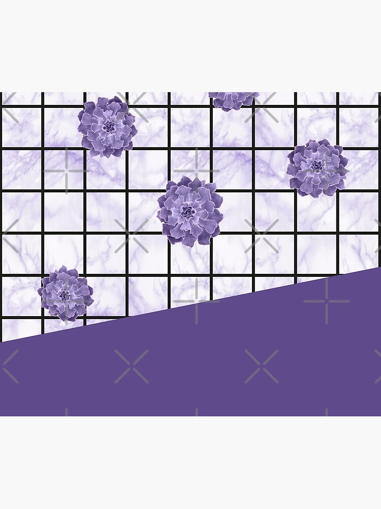 Succulents geometric composition - Ultra Violet by PrintablesP