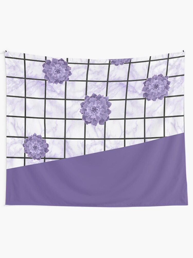 Alternate view of Succulents geometric composition - Ultra Violet Tapestry
