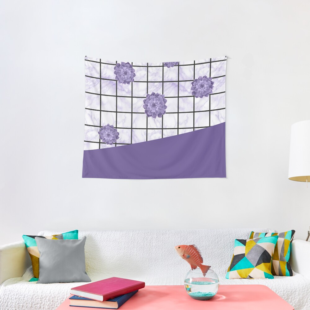 Succulents geometric composition - Ultra Violet Tapestry