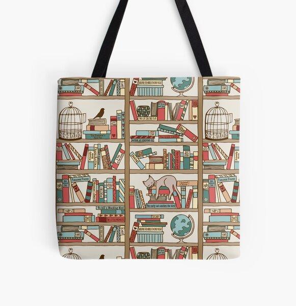 Bookshelf No.2 All Over Print Tote Bag