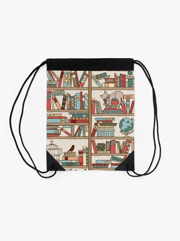 Alternate view of Bookshelf No.2 Drawstring Bag