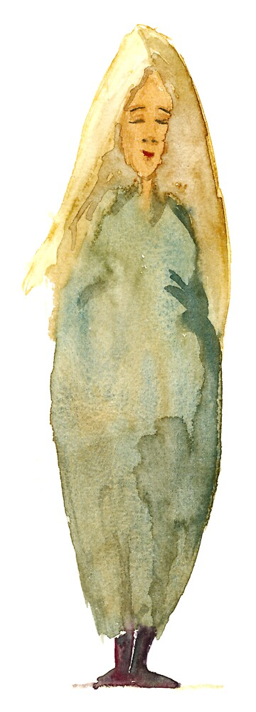 Blond woman - 1 by HikingArtistCom