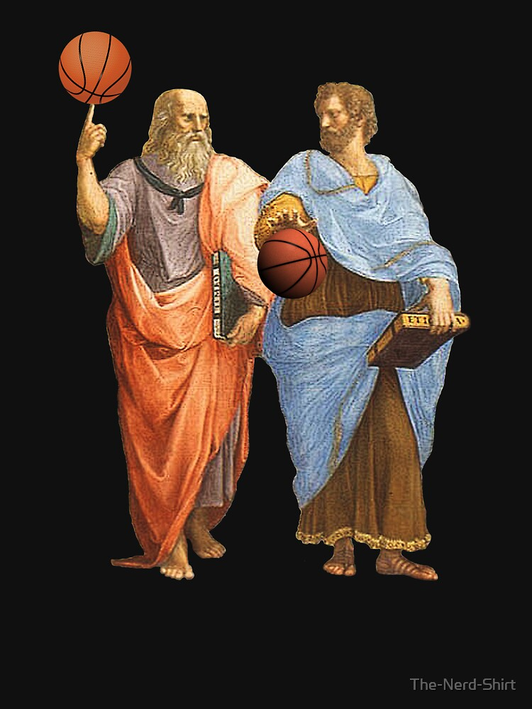 Plato and Aristotle in Epic Basketball Match by The-Nerd-Shirt