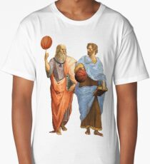 Plato and Aristotle in Epic Basketball Match Long T-Shirt