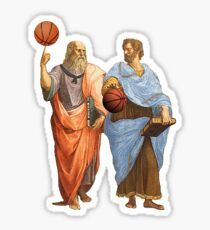 Plato and Aristotle in epic Basketball Match Sticker