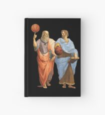 Plato and Aristotle in Epic Basketball Match Hardcover Journal
