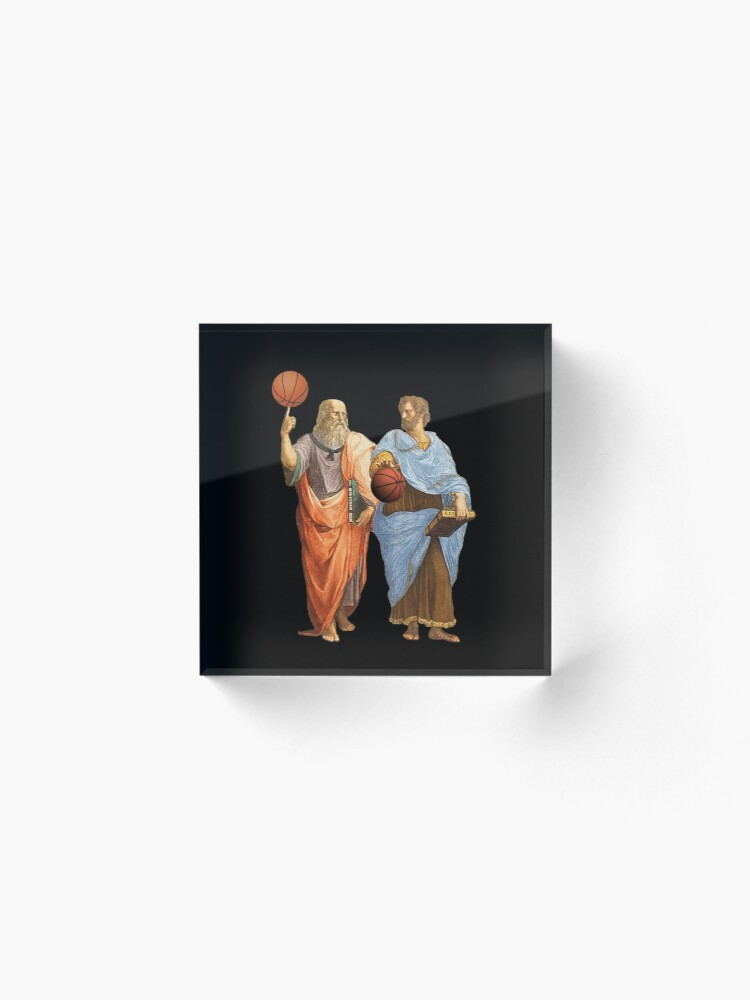 Alternate view of Plato and Aristotle in Epic Basketball Match Acrylic Block