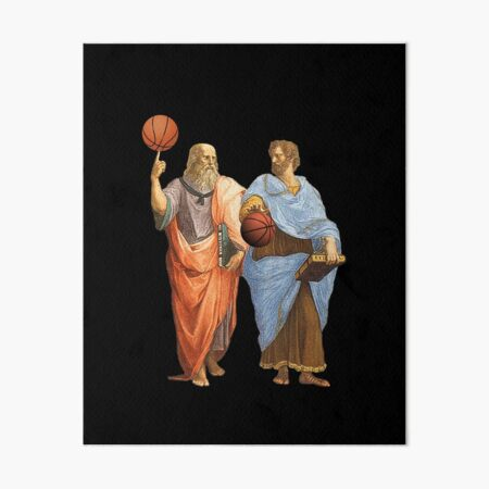 Plato and Aristotle in Epic Basketball Match Art Board Print