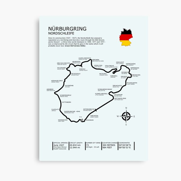 The Nurburgring - Nordschleife Canvas Print