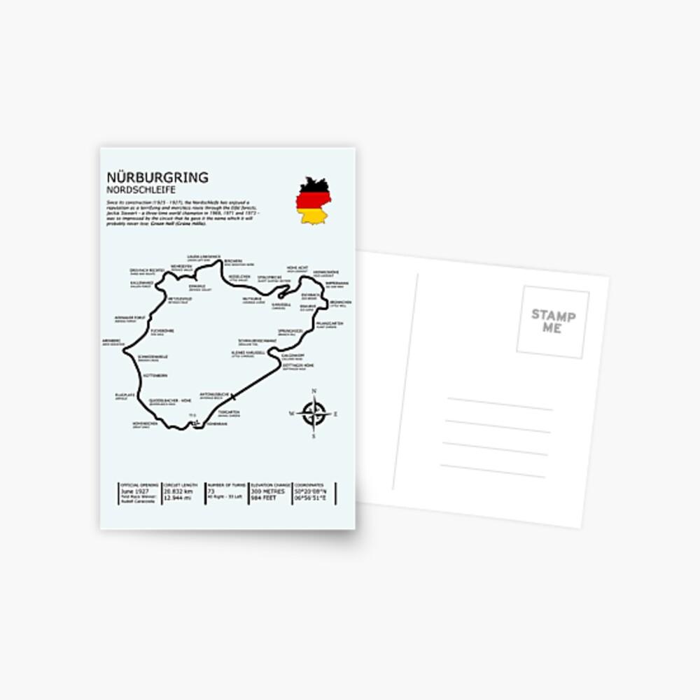 Der Nürburgring - Nordschleife Postkarte