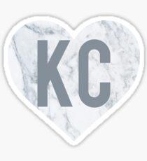 KC Marble Heart Sticker